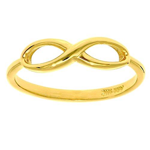 14k Yellow Gold Size 7 Polish Finish Infinity Ring by Diamond Sphere