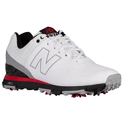 (ニューバランス)New Balance バランス nbg574 golf ゴルフ ゴルフ用商品 shoe 運動 靴 シューズ men's メンズ 男性用 - white ホワイト/red 【並行輸入品】