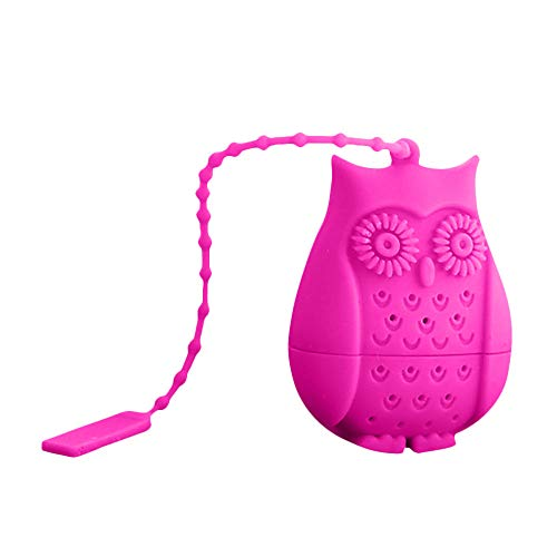 Jonerytime Filter Novelty Tea Infuser 1pcs Perforated Bird Owl Gifts Strainer New Silicone (Hot Pink) from Jonerytime_ Home & Garden -> Kitchen,Dining & Bar