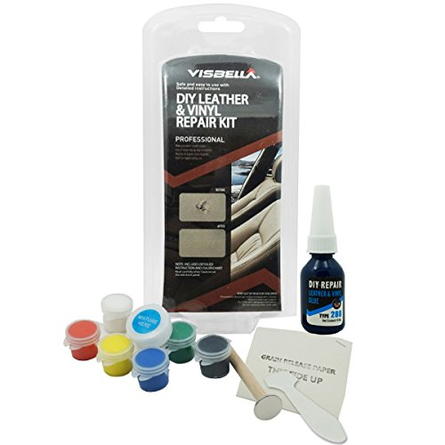 visbella lg0050we5p visbella diy leather and vinyl repair kit do it yourself tool fix holes. Black Bedroom Furniture Sets. Home Design Ideas
