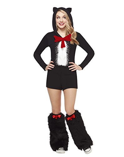Cat In The Hat Halloween Costume (Spirit Halloween Adult Cat In The Hat Romper - Dr. Seuss)