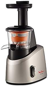Moulinex Infiny Juice ZU255B - Licuadora de tecnología de prensado en frío, zumo y pulpa se separan en dos jarras, sistema antigoteo, tecnología de disminución del ruido