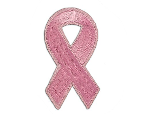 Breast Cancer Awareness Pink Ribbon Sew-On/Iron-On Patch (25 Patches in a Bag) by Fundraising For A Cause