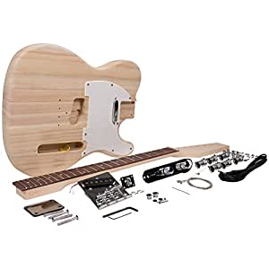 Seismic Audio - SADIYG-02 - Premium Tele Style DIY Electric Guitar Kit - Unfinished Luthier Project Kit