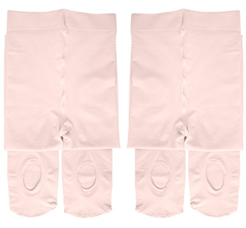 Dancina Toddler Ballet Tights Girls Ballerina Matching Soft Stockings M (6-8) Ballet Pink x2