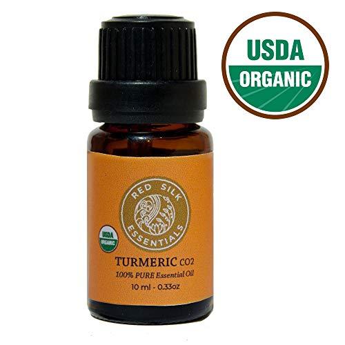 Organic Turmeric Essential Oil, 100% Pure USDA Certified Organic Curcuma Longa - 10ml Undiluted