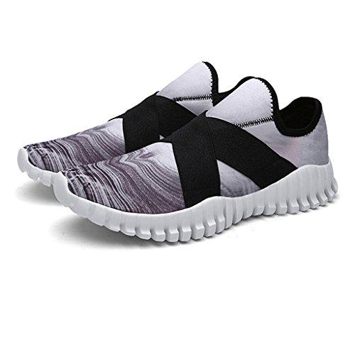 Oriskey Unisex Zapatillas de Deporte de Running Zapatos para Correr para hombre Gris