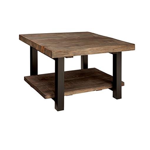 Farmhouse Coffee Tables Alaterre AZMBA1320 Sonoma Rustic Natural Cube Coffee Table, Brown, 27″ farmhouse coffee tables