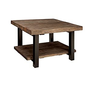 Alaterre AZMBA1320 Sonoma Rustic Natural Cube Coffee Table, Brown