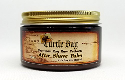 (Turtle Bay After Shave Balm (4 Ounce Jar) With Natural Bay Essential Oil)