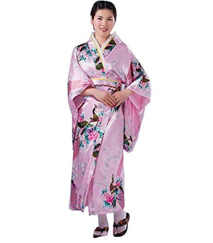 Ethnic Halloween Costumes (PGS Japanese women traditional ethnic costumes KIMONO (Pink))