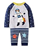 Fiream Little Boys Cotton Longsleeve Dog Cartoon Clothing Sets(7639,7T/7-8YRS)