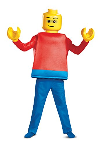 Disguise Lego Guy Deluxe Child Costume, Red, Size/(4-6)