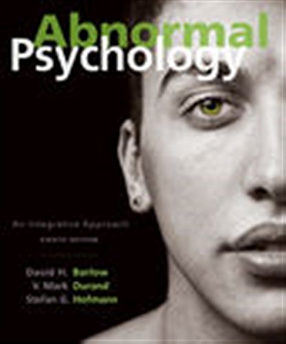 Abnormal Psychology: An Integrative Approach by Cengage Learning