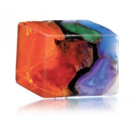 SoapRocks TS Pink FireOpal Soap that looks like a Rock ~ 6 oz. Gem Rocks Birthstone Jabón Gemstone