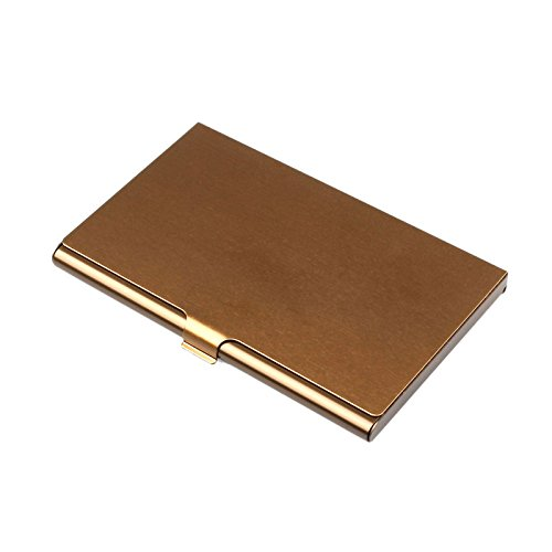 Sonmer Creative Aluminum Holder Metal Cover Credit Business Card Wallet (Coffee)