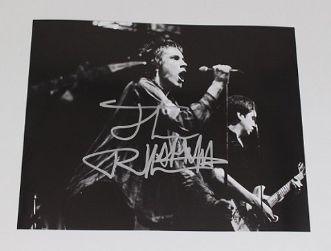 Sex Pistols Anarchy in the U.K. Johnny Rotten Signed Autographed B/W 8x10 Glossy Photo Loa