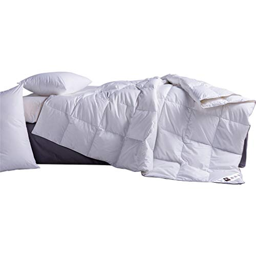 JBailmx Bedding Pure Satin Cotton Natural Summer Duvet 4.5 Tog Keep Cool Quilt Lightweight Supersoft Duvet Insert 95% White Goose Down,King/220×240cm