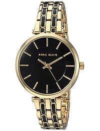Anne Klein AK3010BKGB Reloj Análogo para Mujer, color Negro