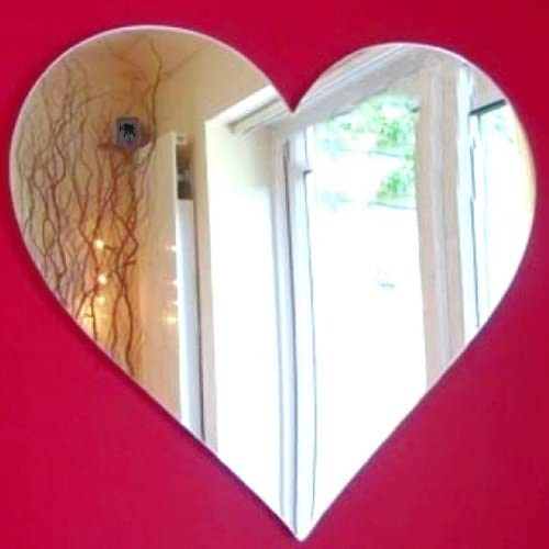 Amazon Com Super Cool Creations Heart Mirrors 50cm X 45cm Home Kitchen
