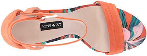 Suede Heeled Nirmala Women's West Sandal Nine Suede Orange 0gzRq