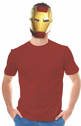 Rubie's Costume Co Unisex-Adults Ben Cooper Iron Man Mask, Multi, One -