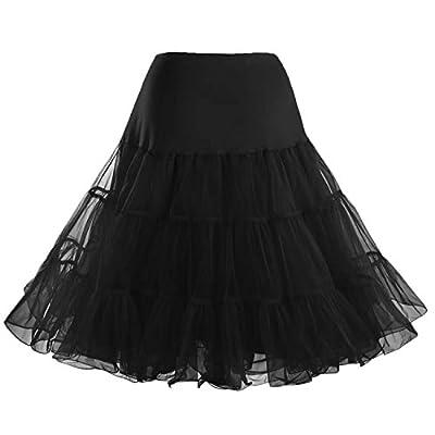 Facent Women Organza Tutu Skirt Petticoats Underskirts Crinoline Half Slips for 1950s Retro Rockabilly Dresses