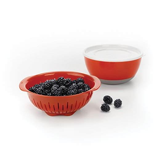 - OXO Good Grips 3 Piece Berry Washing Bowl, Colander