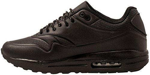Elara Hochwertige Sneaker | Bequeme Herren Low Top Sportschuhe | Moderne Laufschuhe Turnschuhe | chunkyrayan Schwarz
