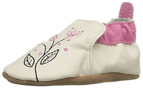 Sugar Pink Footwear (Robeez Girls' Soft Soles, Pink Sugar Beige, 18-24 Months M US Infant)