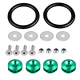 Release Fasteners, 1Set Aluminum Alloy Quick Release Fasteners for Car Bumpers Trunk Hatch Lids Kit(Green)