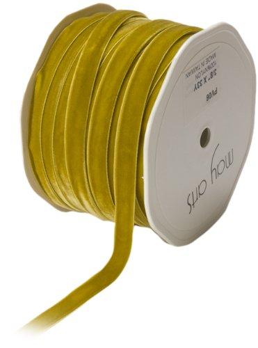 May Arts 3/8-Inch Wide Ribbon, Sweetpea Velvet