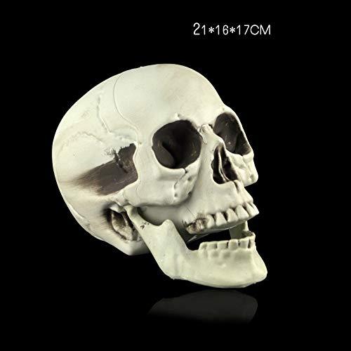Sykdybz Halloween Horror Mask Terrorist Costume Ball Ghost House Scary Props, 29.5X18.5X14Cm