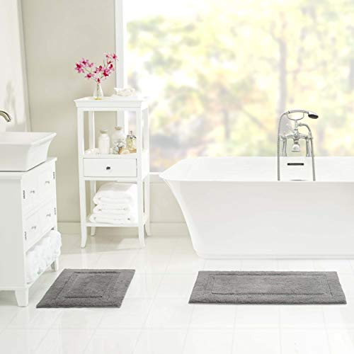 Nautica Peniston Bath Rug Set, 17x24, Grey