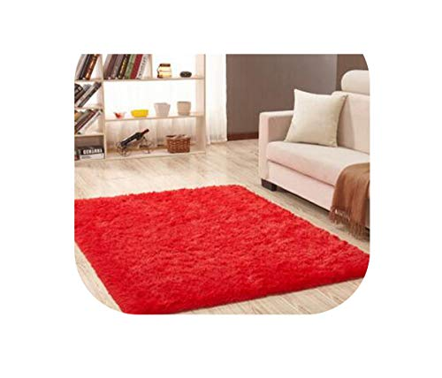 Heart to hear Carpet-Living Room Carpet European Fluffy Mat Rug Bedroom Mat Antiskid Soft Area Rug Gray Red Pink Rectangle Mats,Red,60cm x 120cm (Jacksonville Furniture Sale Fl For)