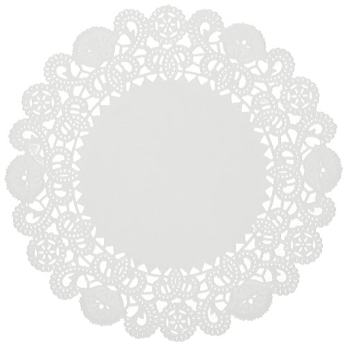 Hoffmaster LA9052M Brooklace Lace Doilies, Round, 5'', White (Case of 2000) by Brooklace
