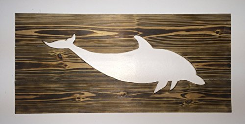 Reverse Cut Dolphin Wall hanging (Beach Theme House Numbers)