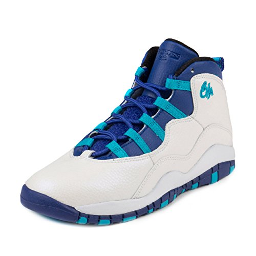 Nike Jordan Kids Jordan 10 Retro Bp White/Concord Blue Lagoon Black Basketball Shoe 3 Kids US - Jordan 3 Fusion