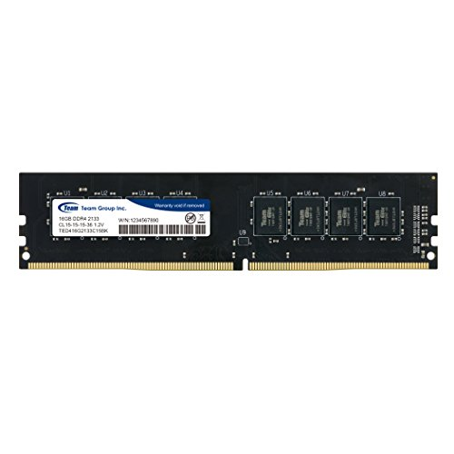 TeamGroup 16GB Single (1 X 16GB) DDR4 2133 MHz DIMM 288 Pin Desktop Memory RAM - TED416G2133C1501