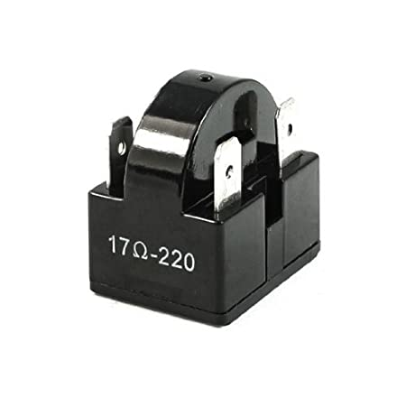 4-Pin Terminales Nevera PTC arranque Relay 17 Resistencia Ohm ...