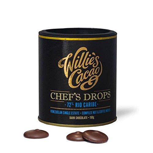 Willie Cacao Venezolano Oscuro Chocolate Drops 72% 150g: Amazon.es: Alimentación y bebidas