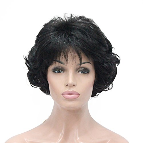 Kalyss Short Curly 100% Imported Premium Synthetic Fashion Grey Hair Wig For Women -