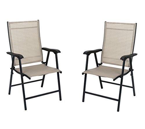 NatureFun Foldable Outdoor/ Indoor Sling Dining Chair, Portable Garden Balcony Leisure Chair price