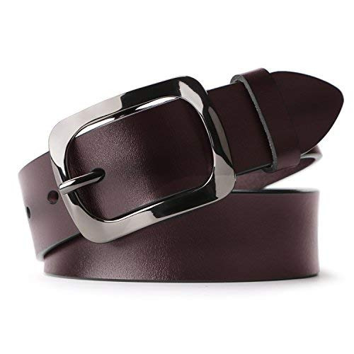 Whippy Jeans Belt for Women Leather Belt with Solid Pin ()