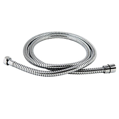 Bopai Bathroom Replacement Part Extra Long 59-Inch Double buckle Stretchable Flexible Stainless Steel Shower Hose Tube For Baby Handheld Shower Head With Brass Fitting Chrome Finish hot sale 2017