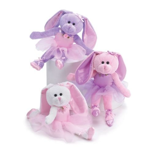 Set of 3 Ballerina Plush Bunnies 10.5