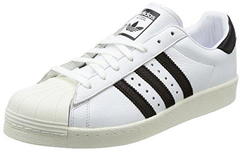 Adidas Menns Superstjerne, Hvit / Svart, 9,5 M Oss
