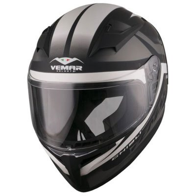 Vemar Ghibli Base Helmet Large Matte White/Black Domain Cheek Pads
