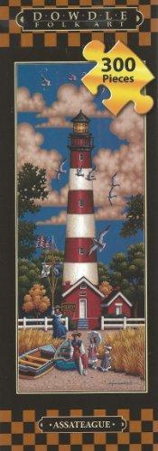 (Assateague Lighthouse Dowdle Folk Art 300 Piece Tall Jigsaw Puzzle 8 X 24 by Dowdle Folk Art )