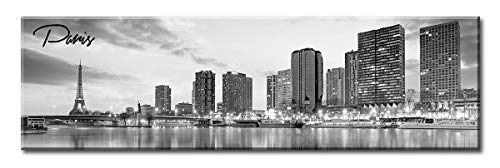 DJSYLIFE-Paris Skyline Wall Art,Black and White Stretched Canvas Art Prints, Wall Decoration Painting for Bedroom or Office, Ready to Hang 13.8